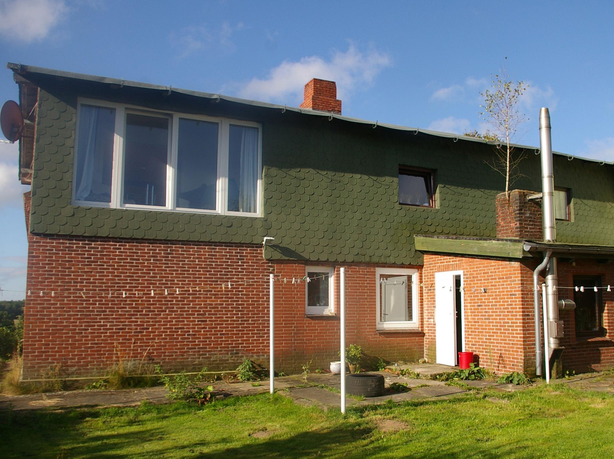 Hausfassade in grün