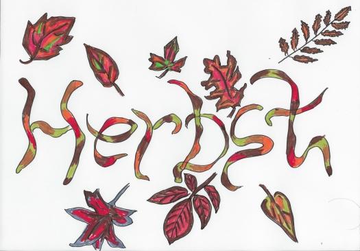 Schriftzug Herbst