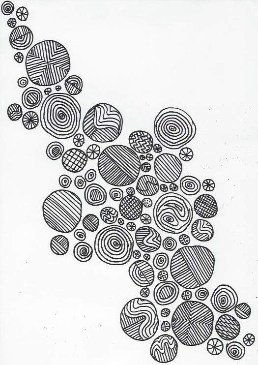 gemalte Kreise