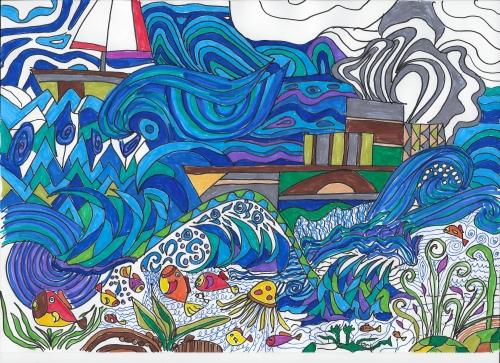Schiffe gemalt