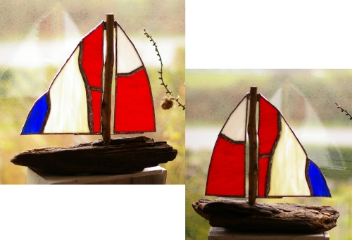 Treibholzboot mit Tiffany