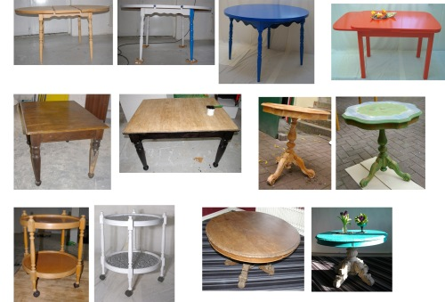 Tische mit neuer Farbe