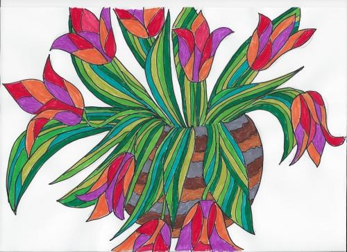 Tulpen gemalt