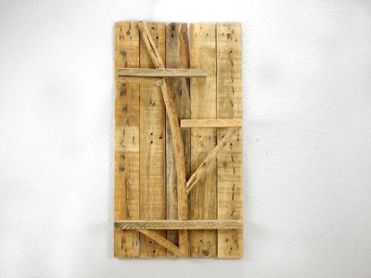 Palettenholzwandregal