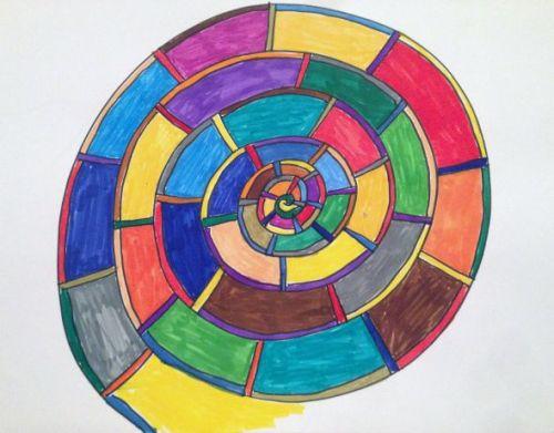 spirale mit Farben