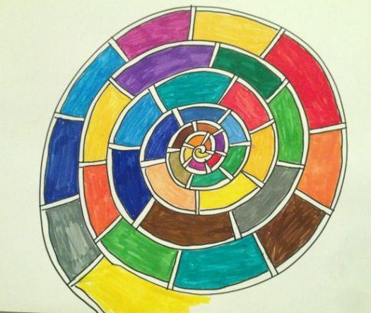 Spirale gemalt
