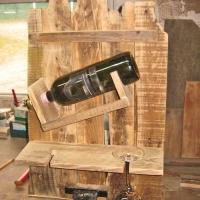 Selbermachen: ein Weinregal aus Palettenholz
