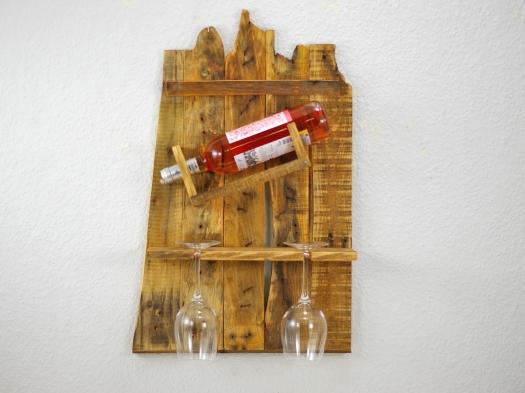 Weinregal aus Palettenholz