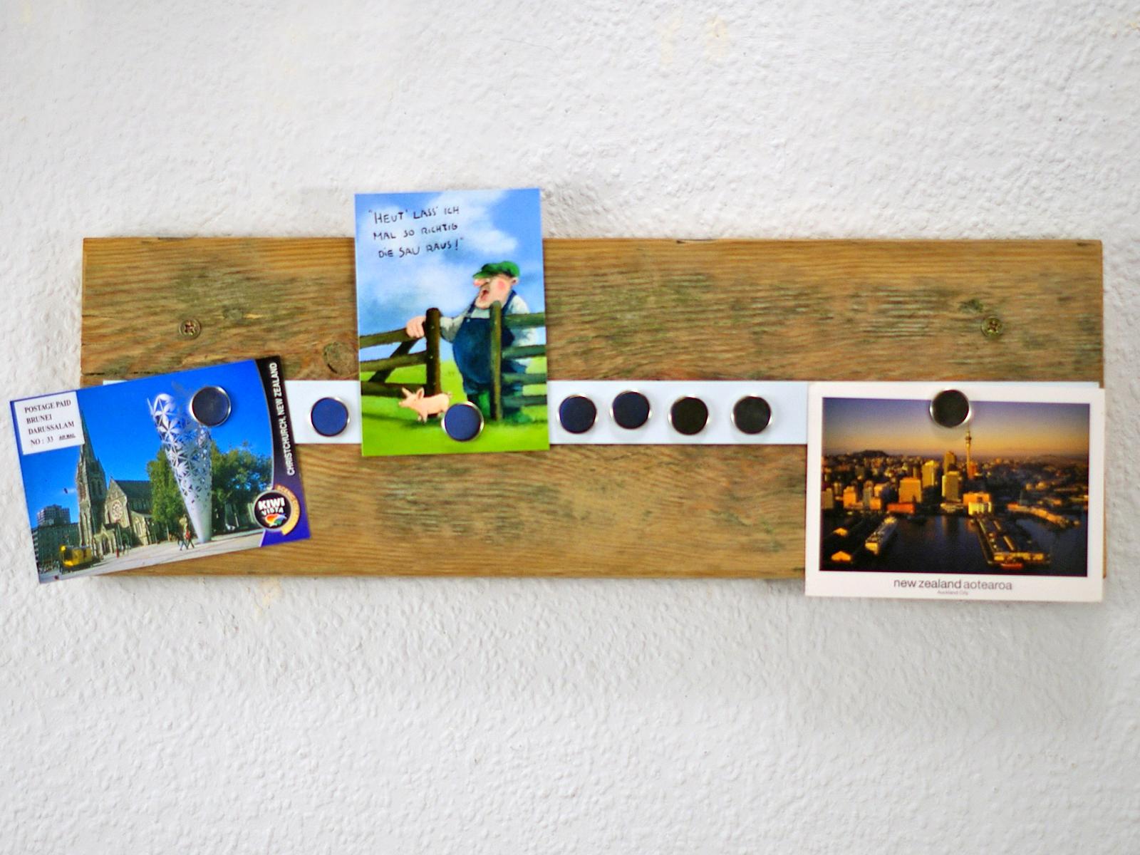 Fotoleiste aus Treibholz mit Magnetstreifen, diy