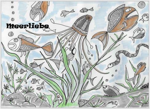 Unter Wasser Zeichnungen