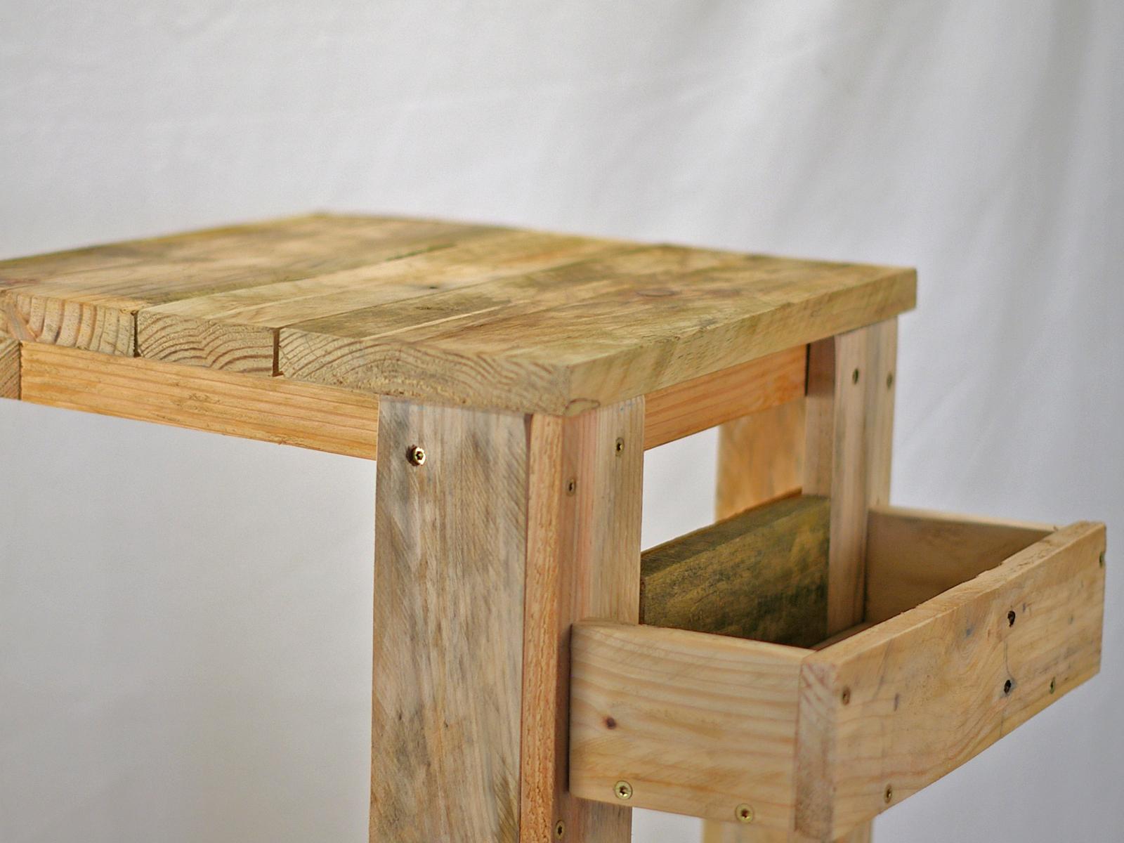 #palettentisch, palettenholz, diy, beistelltisch, wohnen