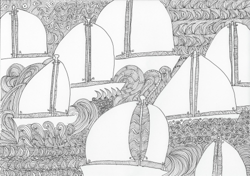 segelboot doodle