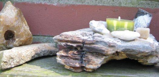 diy Teelichthalter aus Stein