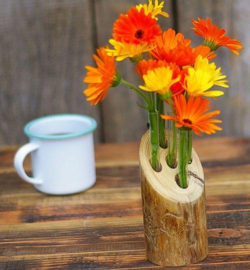 Vase aus Treibholz