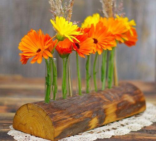 Treibholz als Vase