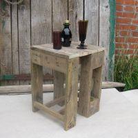 Hocker aus Palettenholz - die praktischen Alleskönner