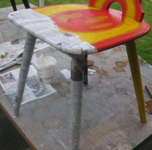 Decoupage Stuhl