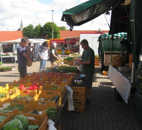 Wochenmarkt in albersdorf