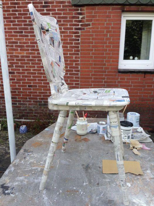 Papier für eine neue Stuhl optik