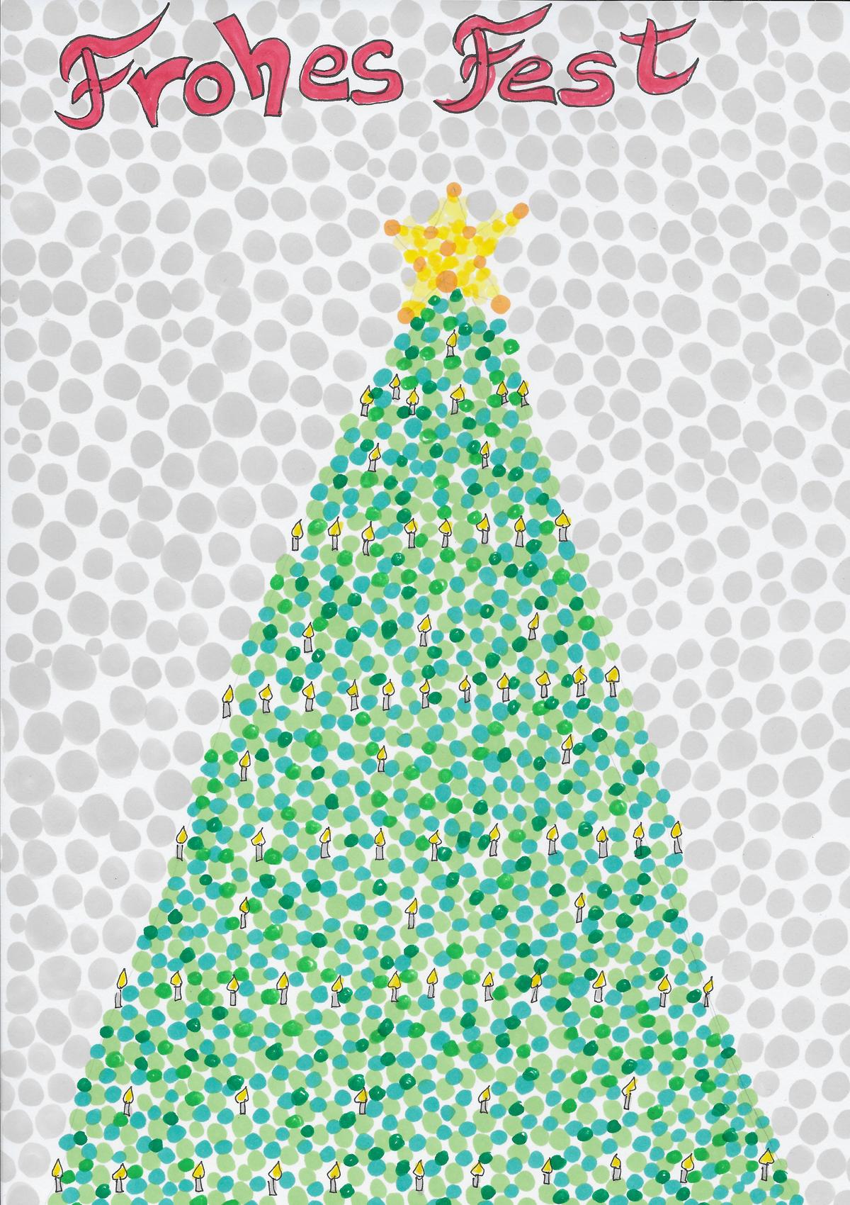 Tannenbaum gezeichnet