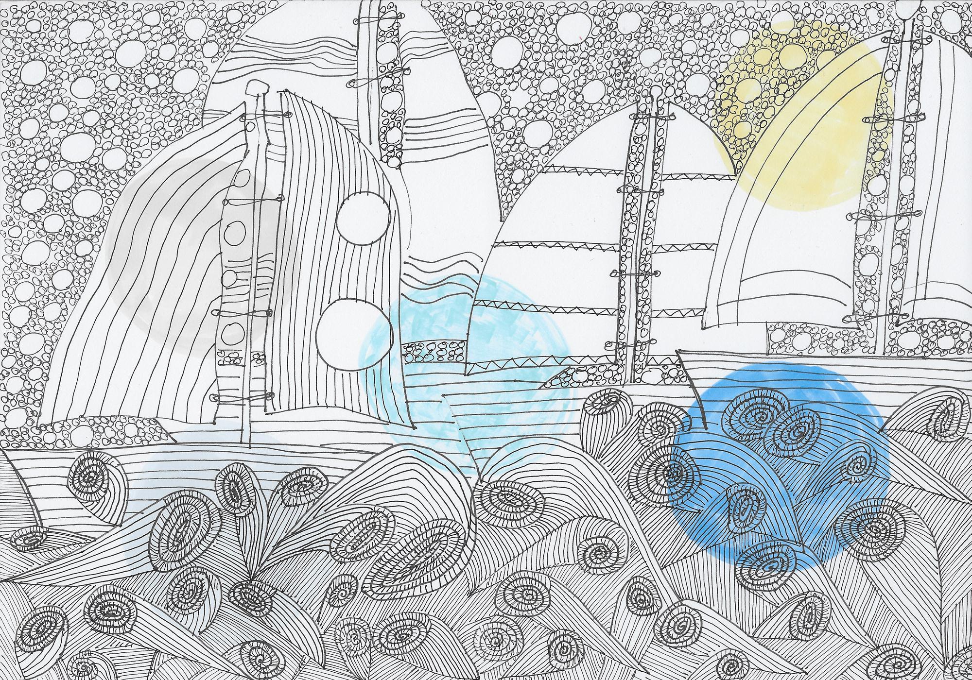 Zeichnungen segelboote