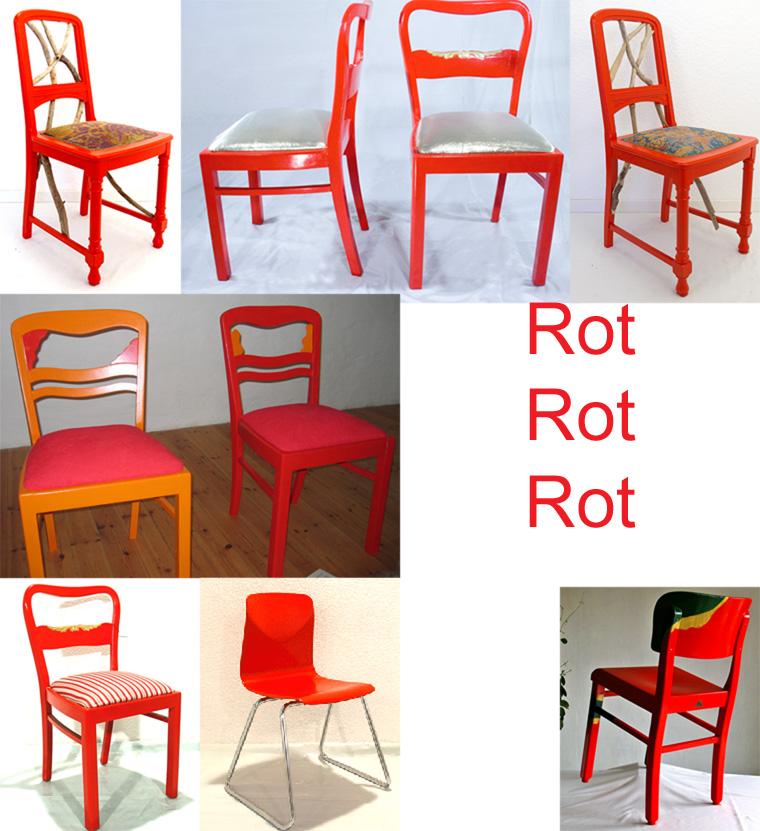 rote Stühle neu