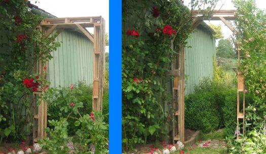 Rosenbogen aus palette bauen