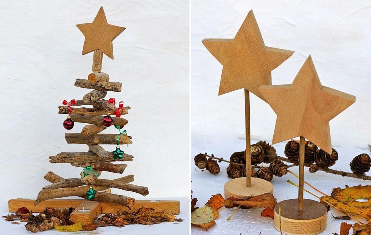 Weihnachtliche Deko aus Holz