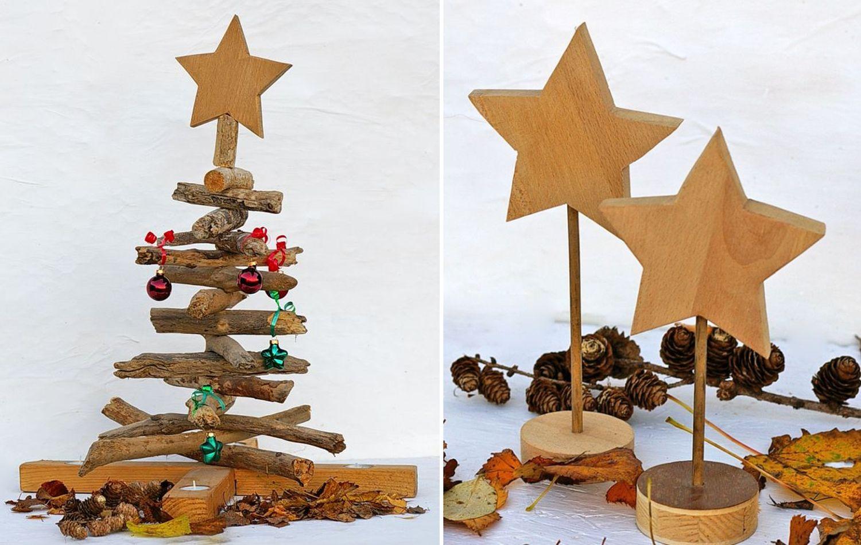 Holzdeko zu Weihnachten Diy