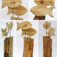 Deko-Fische aus Treibholz, eine schöne DIY-Idee