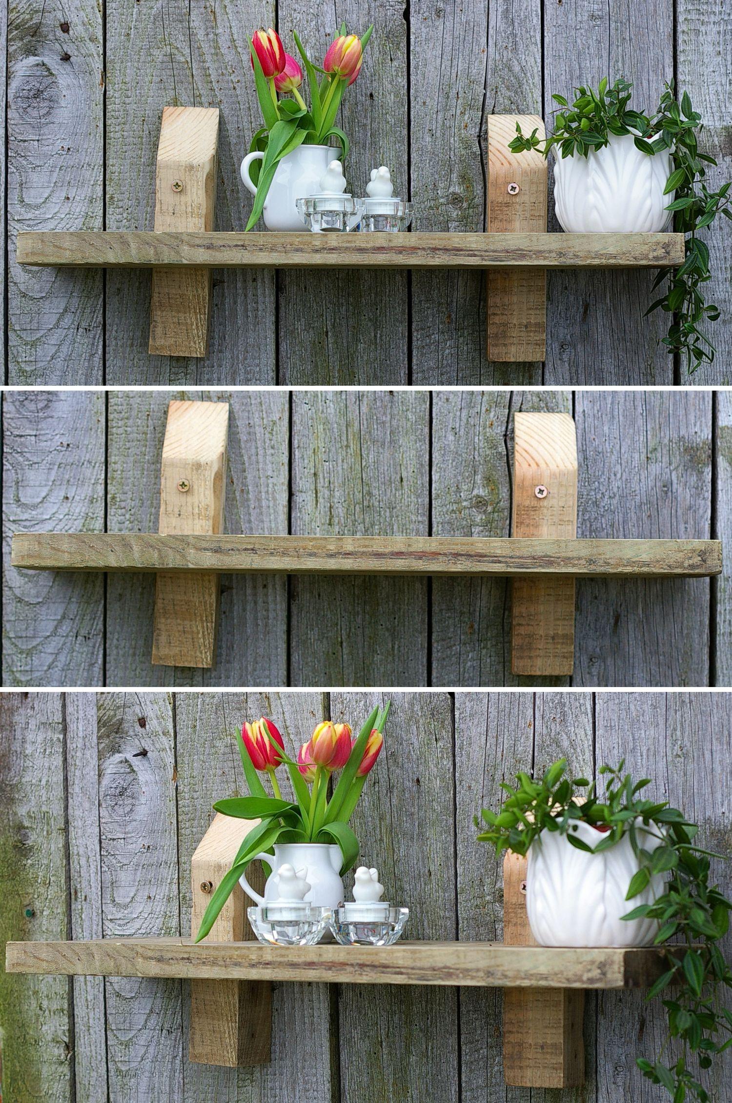 Diy Regal aus Treibholz zum Aufhängen, schönes nachhaltiges Wohnen