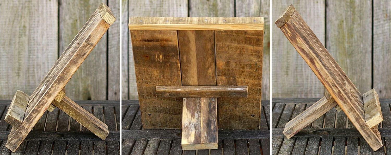 Diy Idee für Palettenholz, Buchstütze zum Selbermachen, nachhaltig wohnen