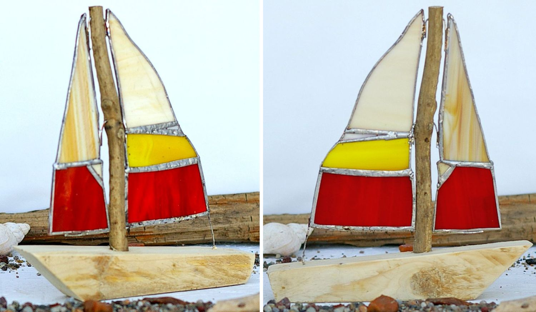 diy segelboote aus treibholz und glas