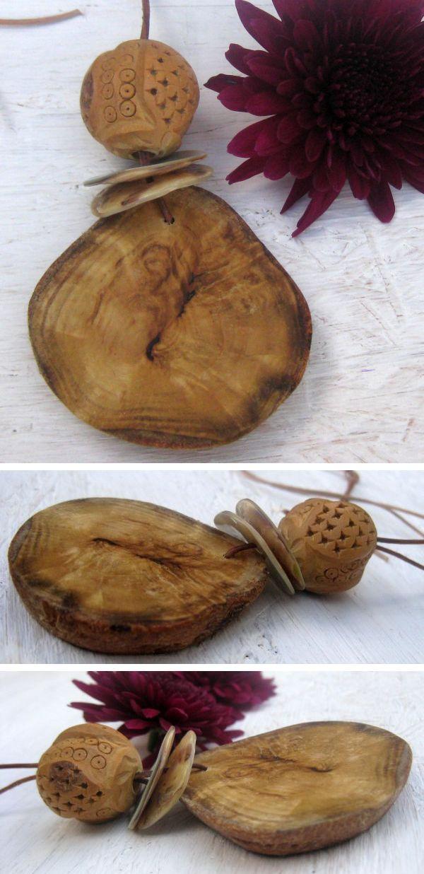 Schöne Holzkette als Geschenk für Naturliebhaber, diy-ideen