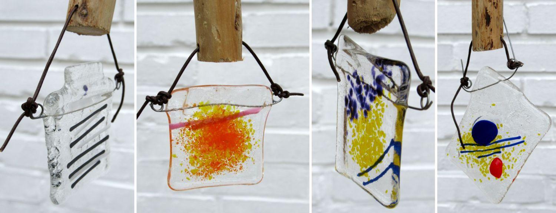 Glasanhaenger aus funsing Glas, selbermachen mobile fuer den garten