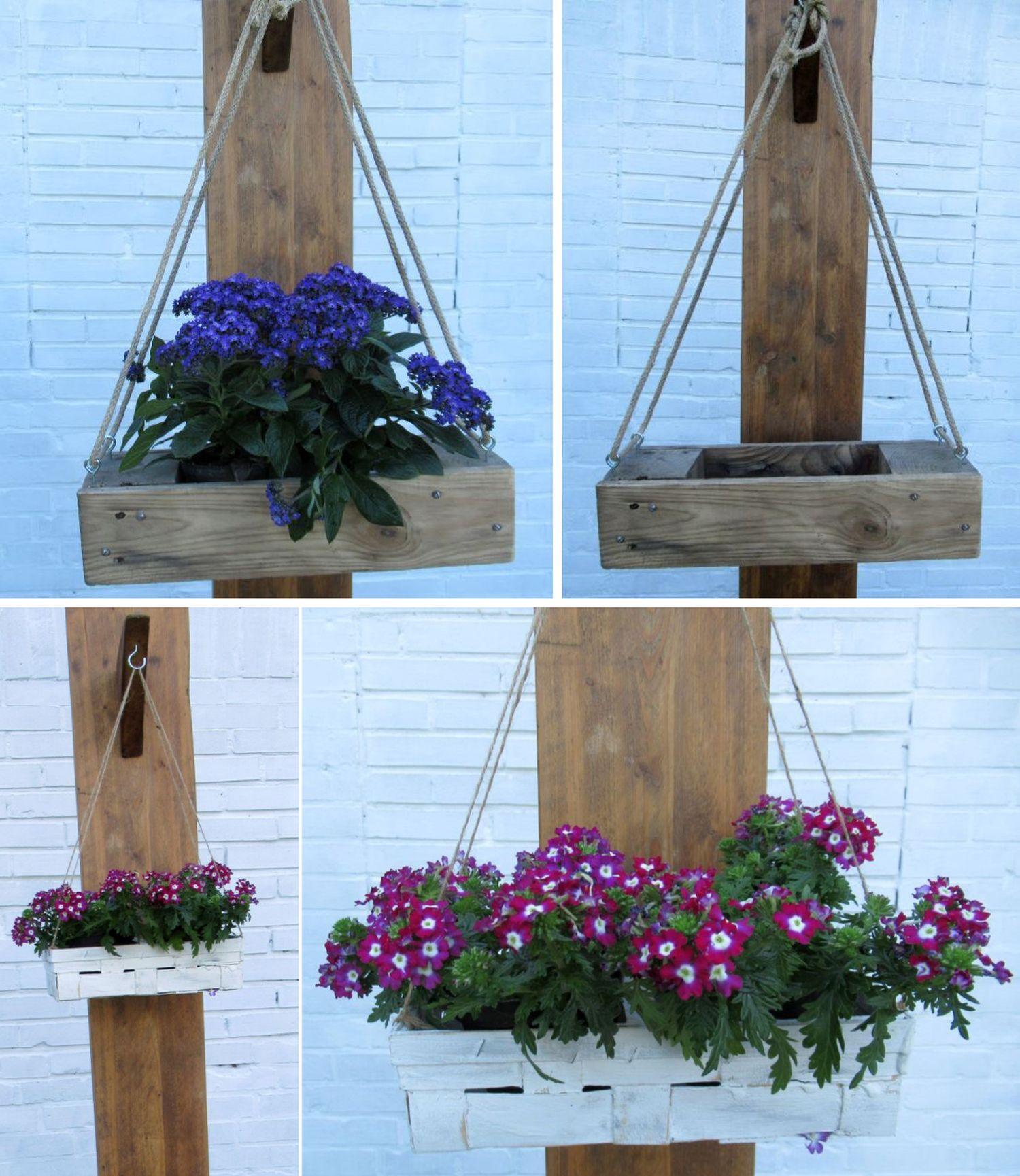 Kisten zum Aufhängen sind ideal für den Garten, Gartendekoration