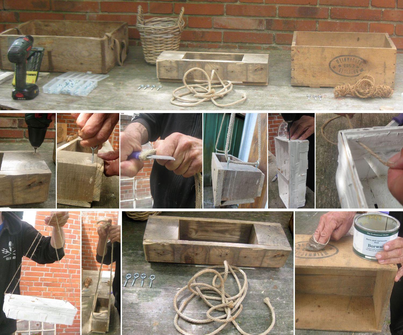 Anleitung zur Herstellung von Hängenden Kisten als Gartendekoration, Ideen für den Garten