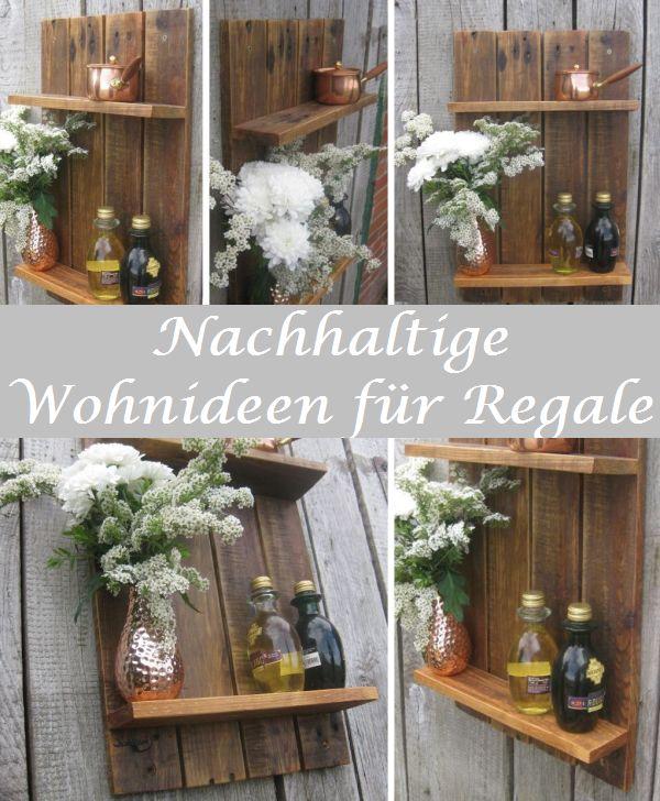 Nachhaltiges Regal aus Palettenholz, vielseitig einsetzbar, Diy Idee