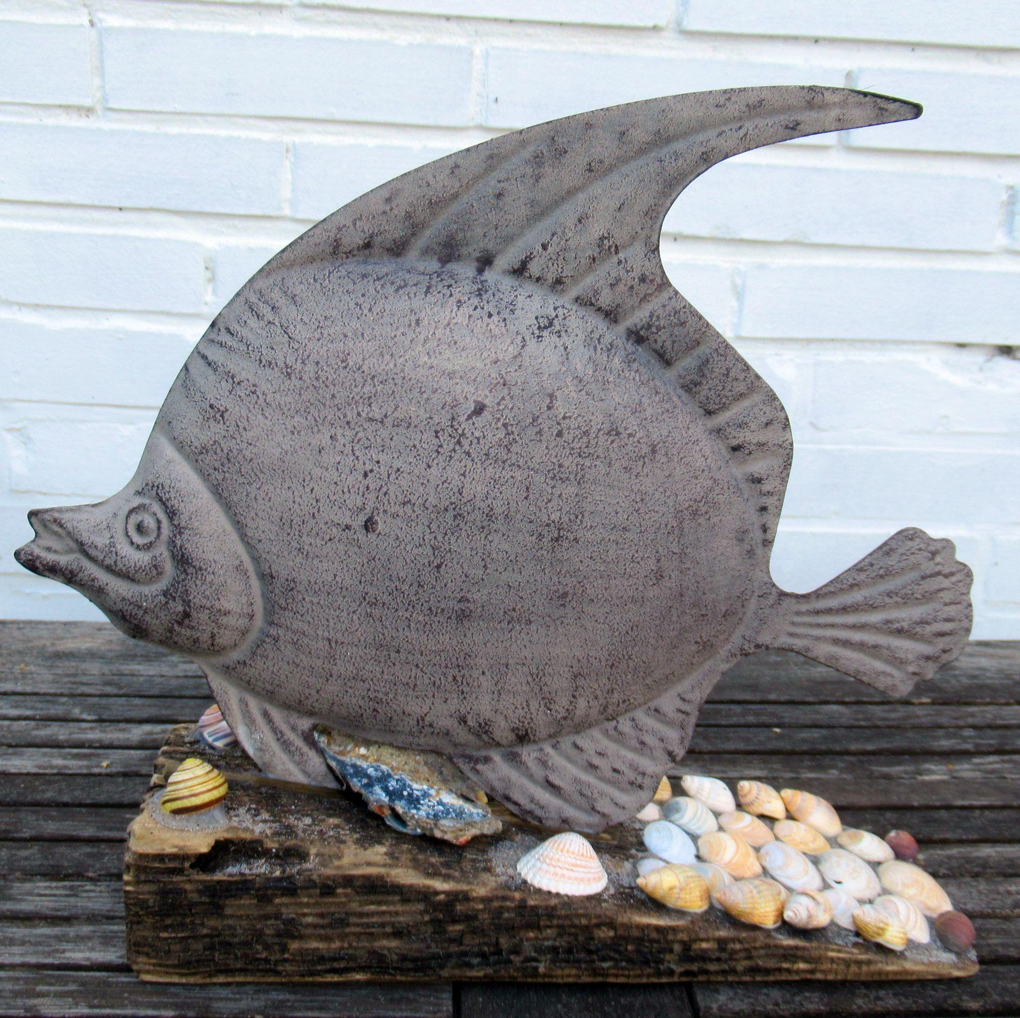 Gartendekoration mit Fisch, diy Idee