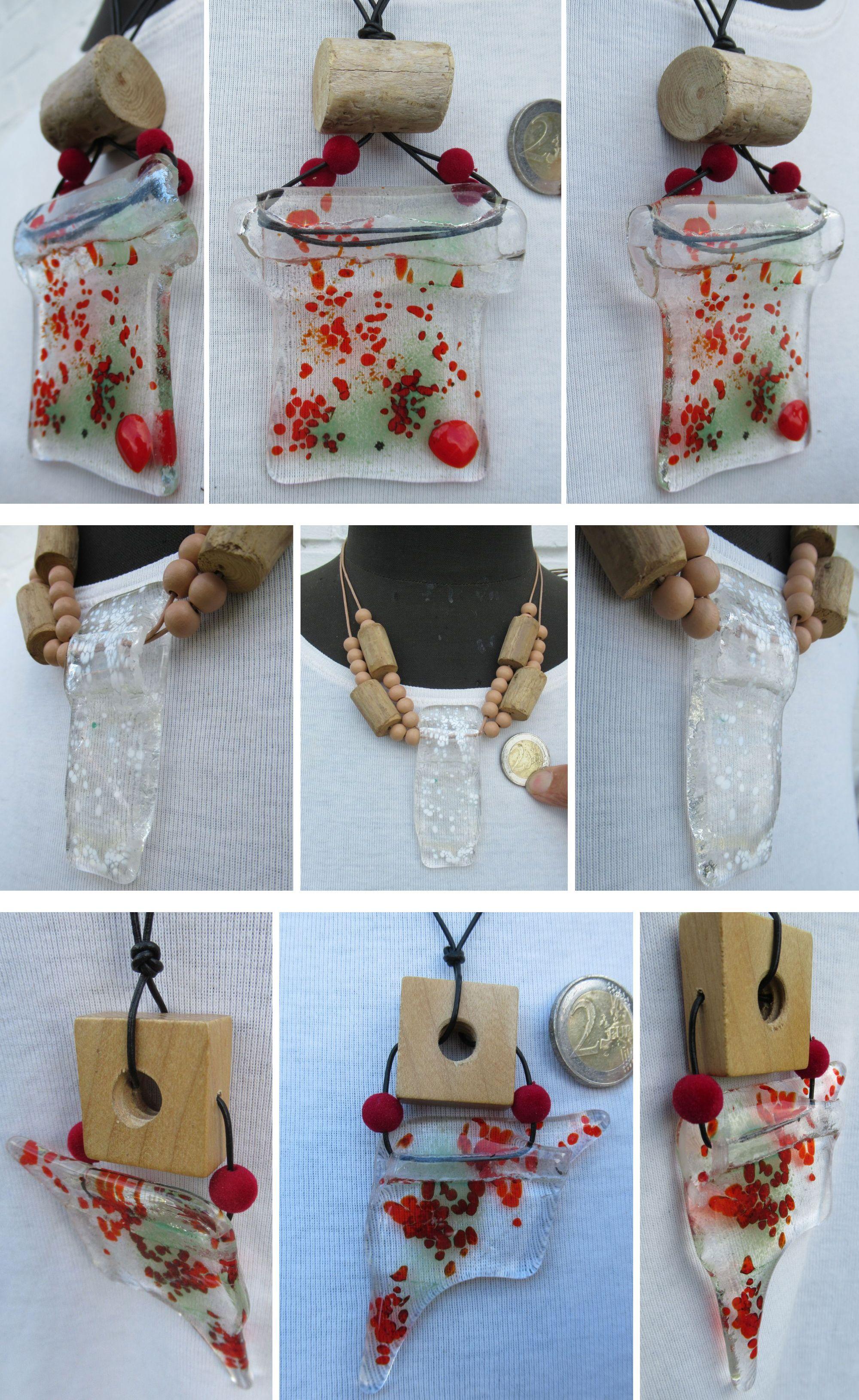 Bastel Ideen für Ketten mit Glasanhängern.