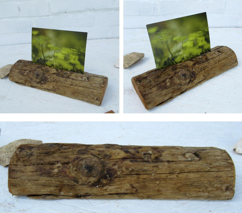 Postkarten in einem Ständer aus Treibholz, einfach schnell selbermachen