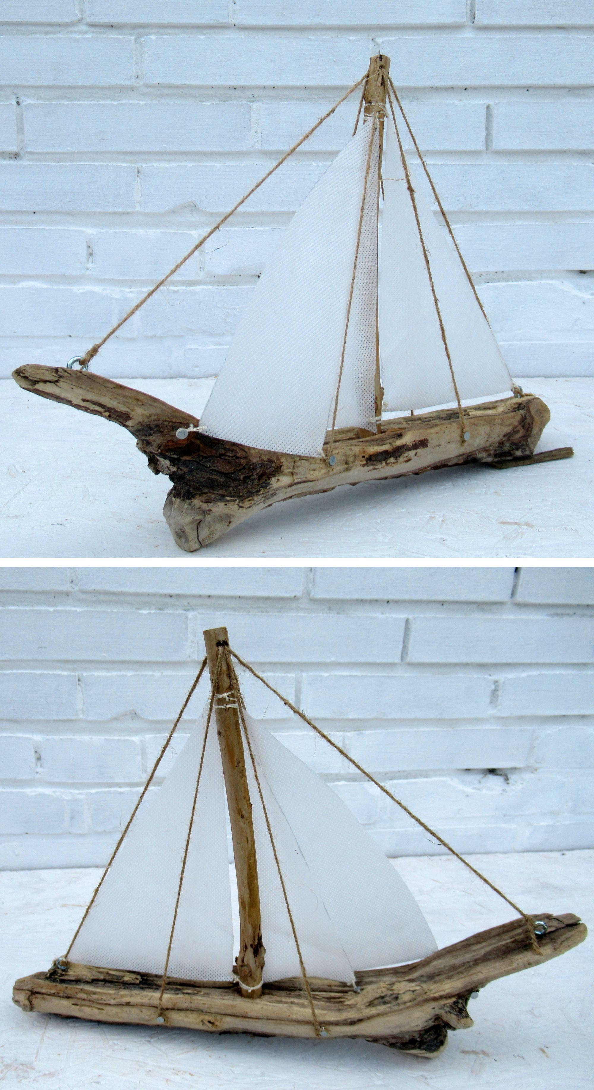 Segelschiff selber bauen, Anleitung, aus Treibholz und Stoff