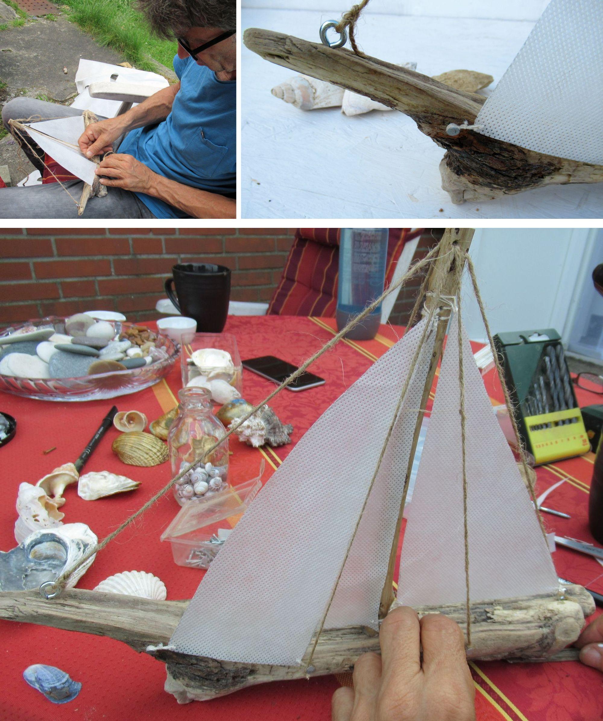 Ein Segelschiff mit Treibholz und Stoffsegeln selber bauen, Erklärung