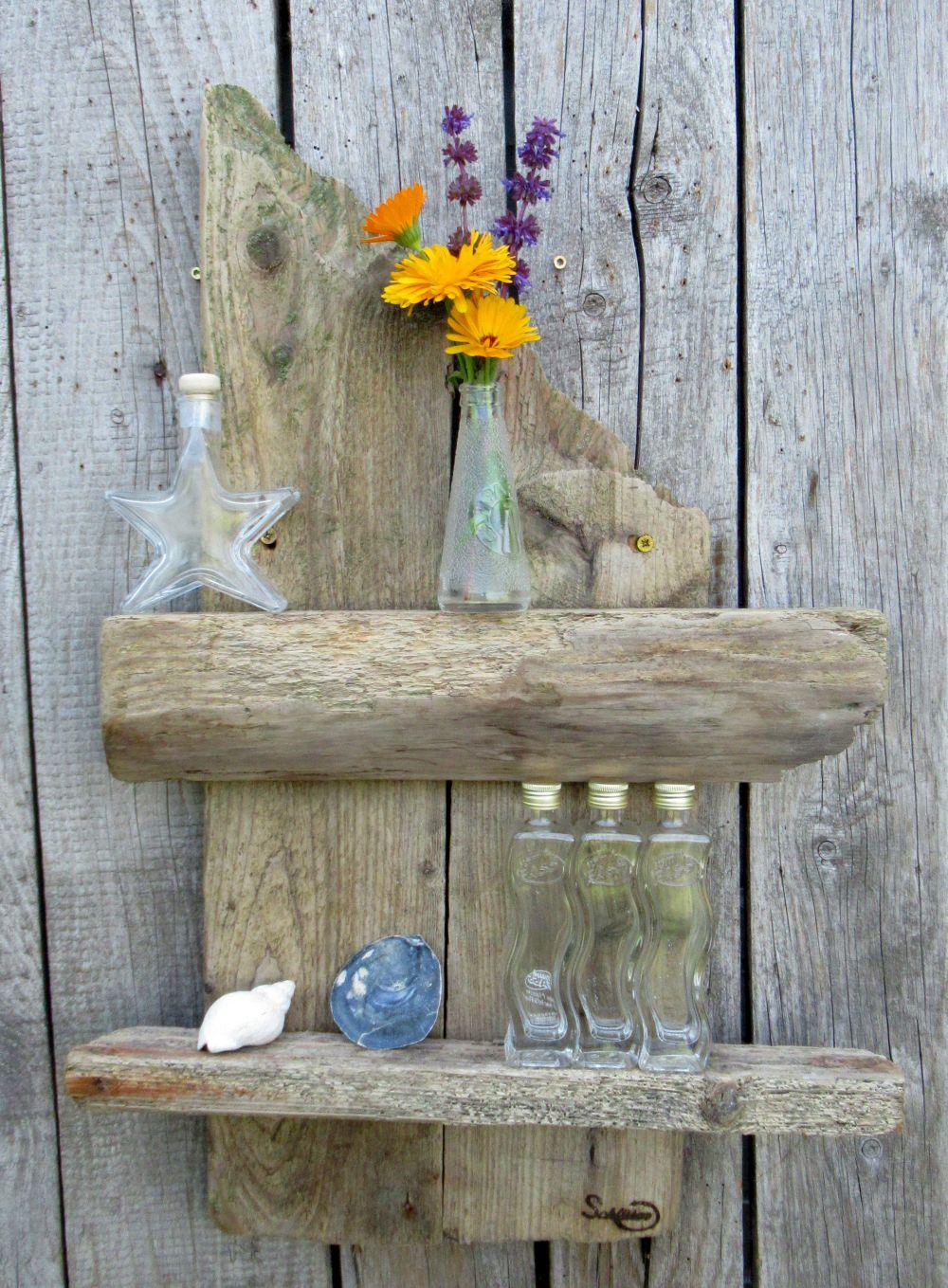 Treibholz als Material für ein schönes Regal, diy
