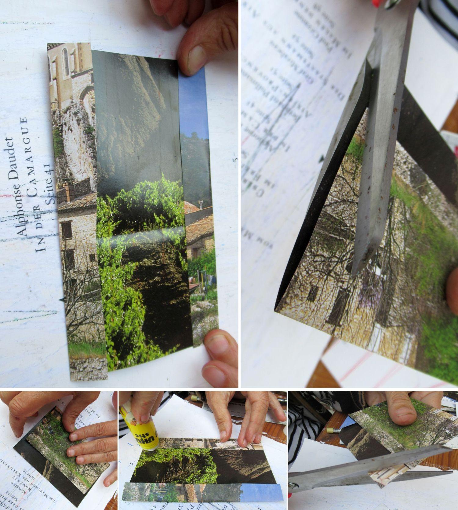 Papiertüten basteln aus alten Buchseiten