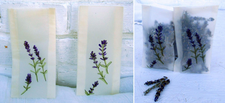 Lavendelblüten in Tüten