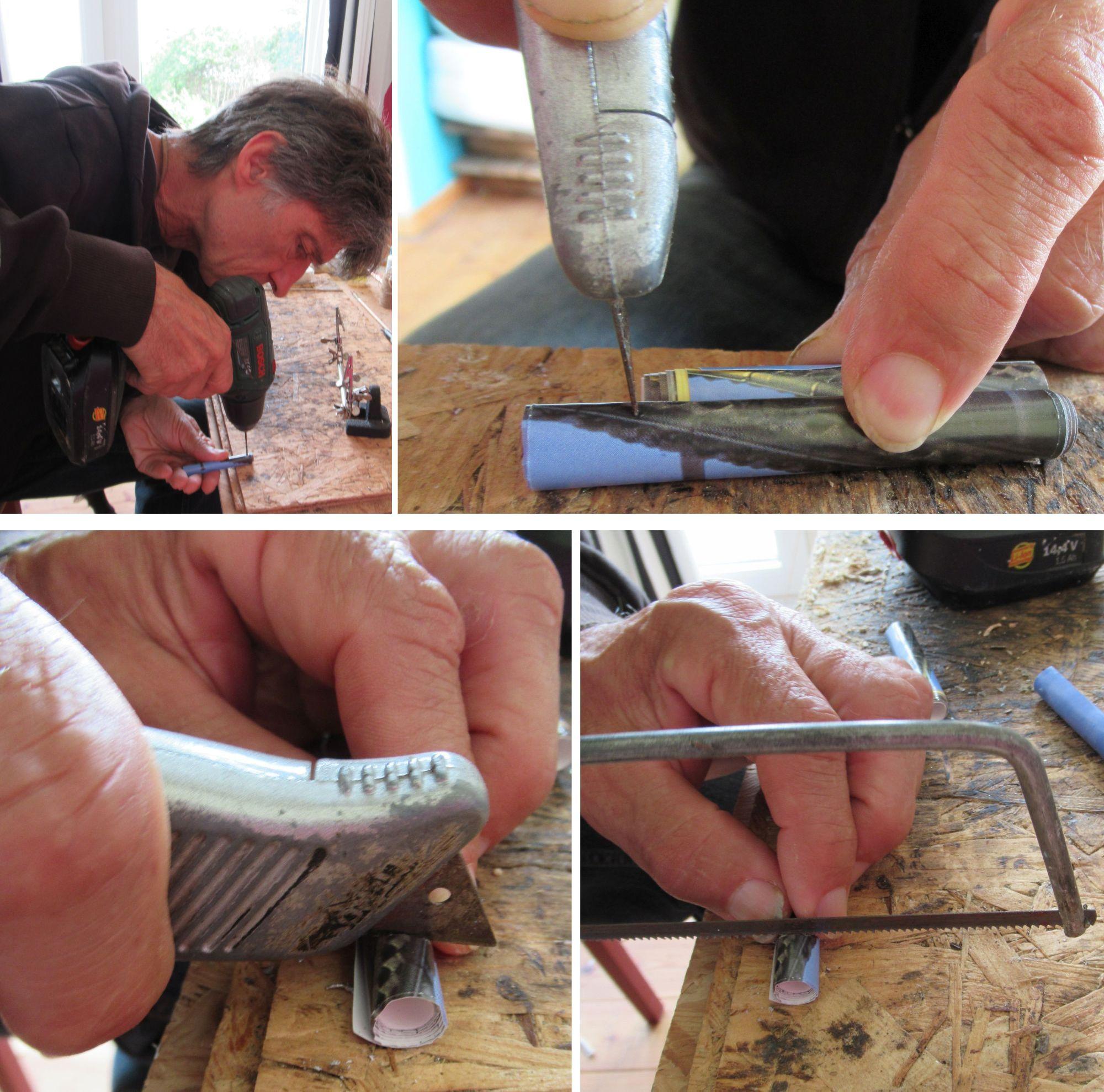 Diy Perlen aus Papier sägen, bohren, schneiden