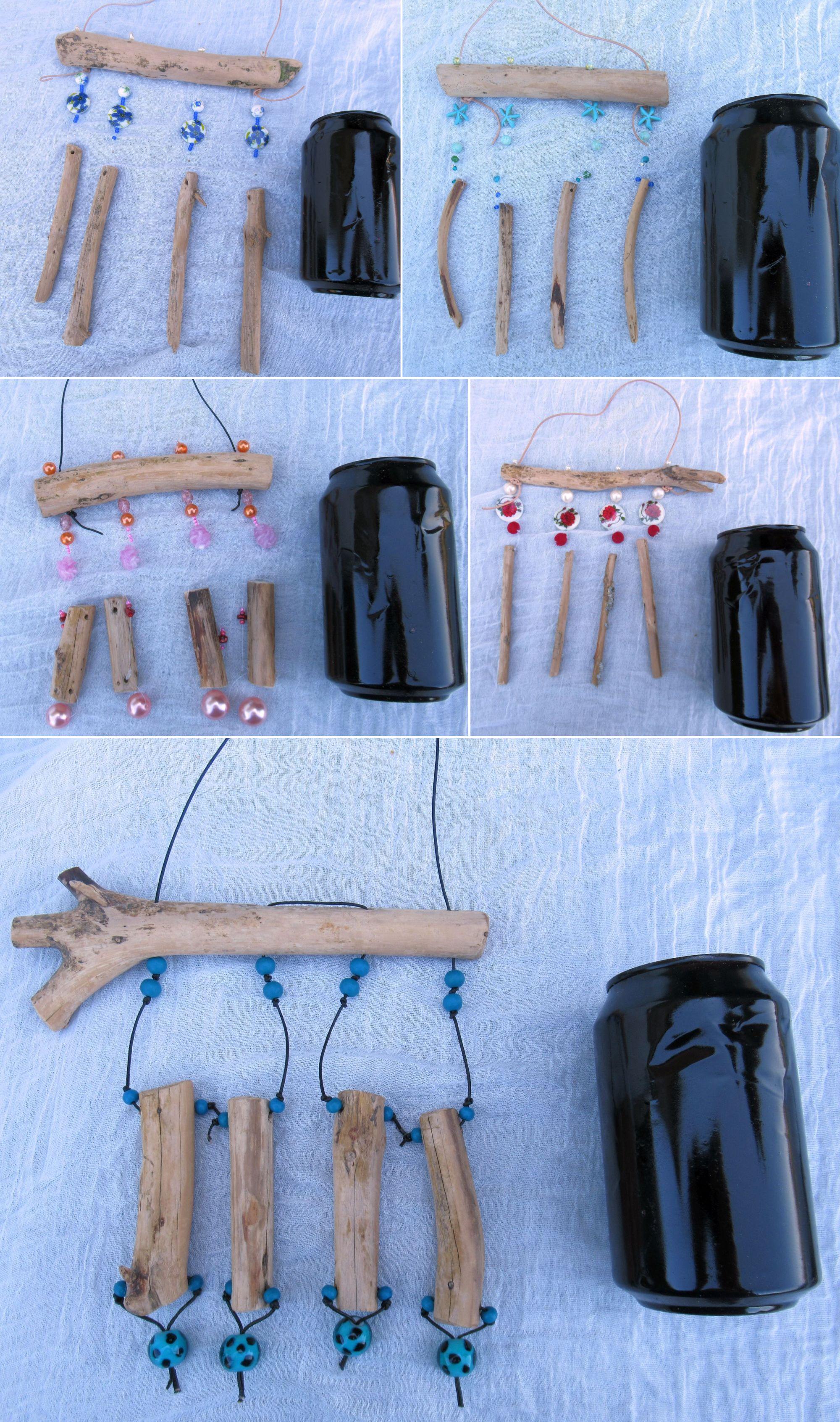 Treibholz Mobiles in verschiedenen Größen selber bauen