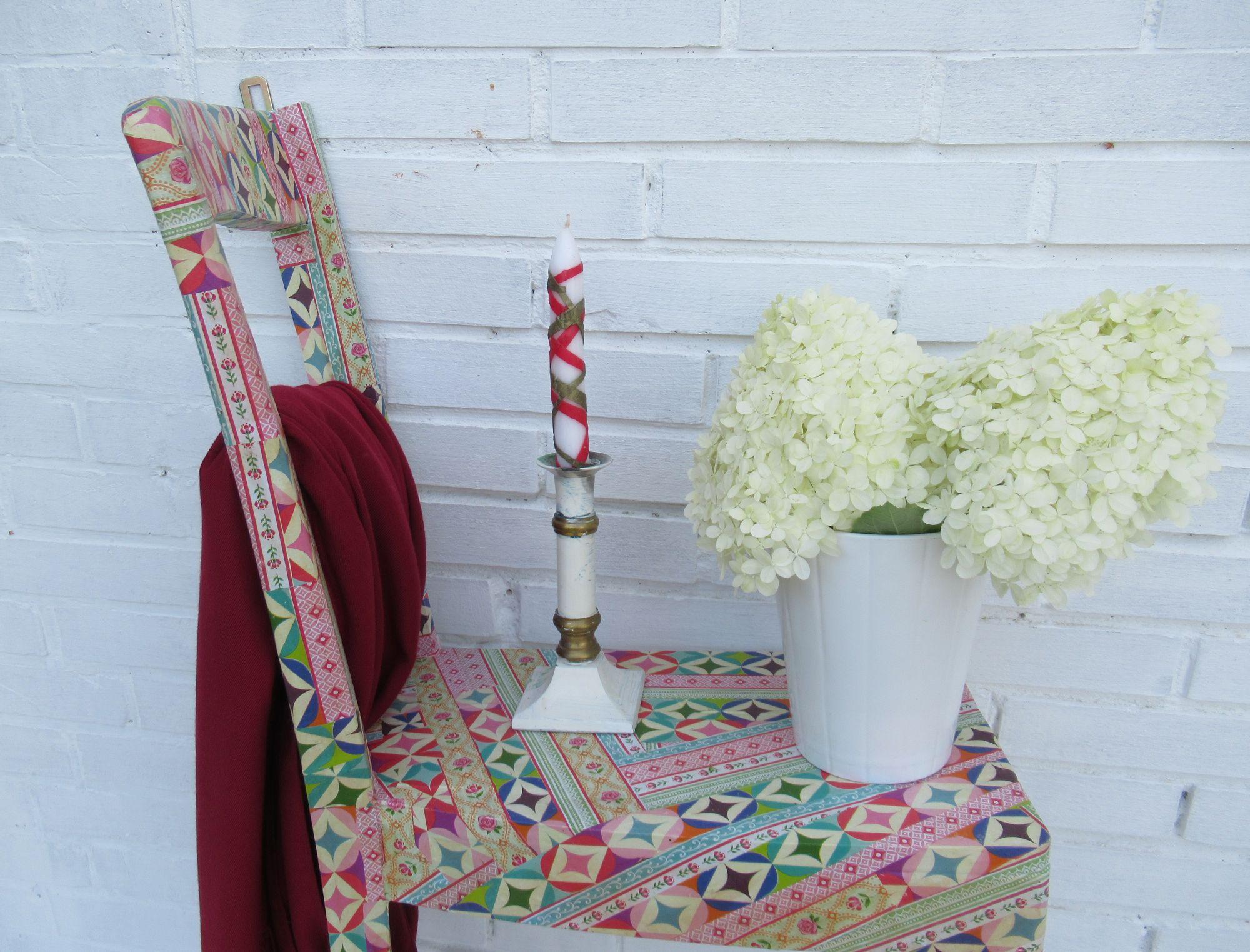 ein alte Stuhl als Wandregal, schöne Diy Idee