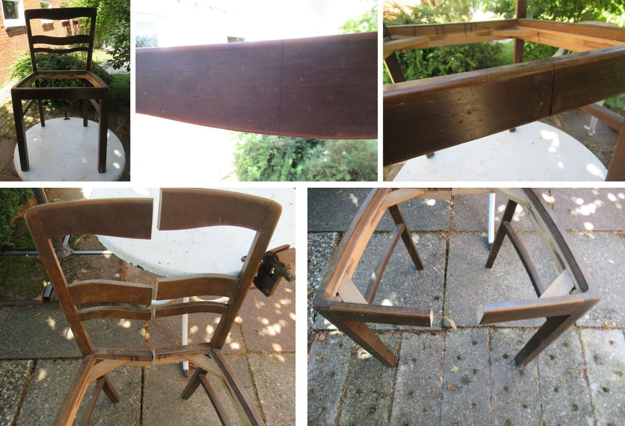 Stuhl sägen als Regal, upcycling alter Stuhl als Wandregal